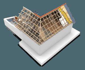 Dakisolatie bij een schuin dak